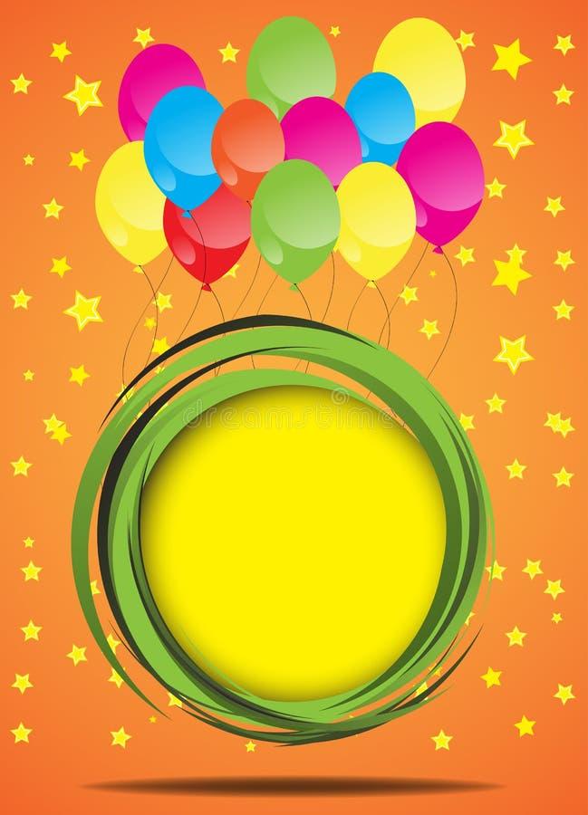 Carte d'anniversaire. Vecteur illustration de vecteur