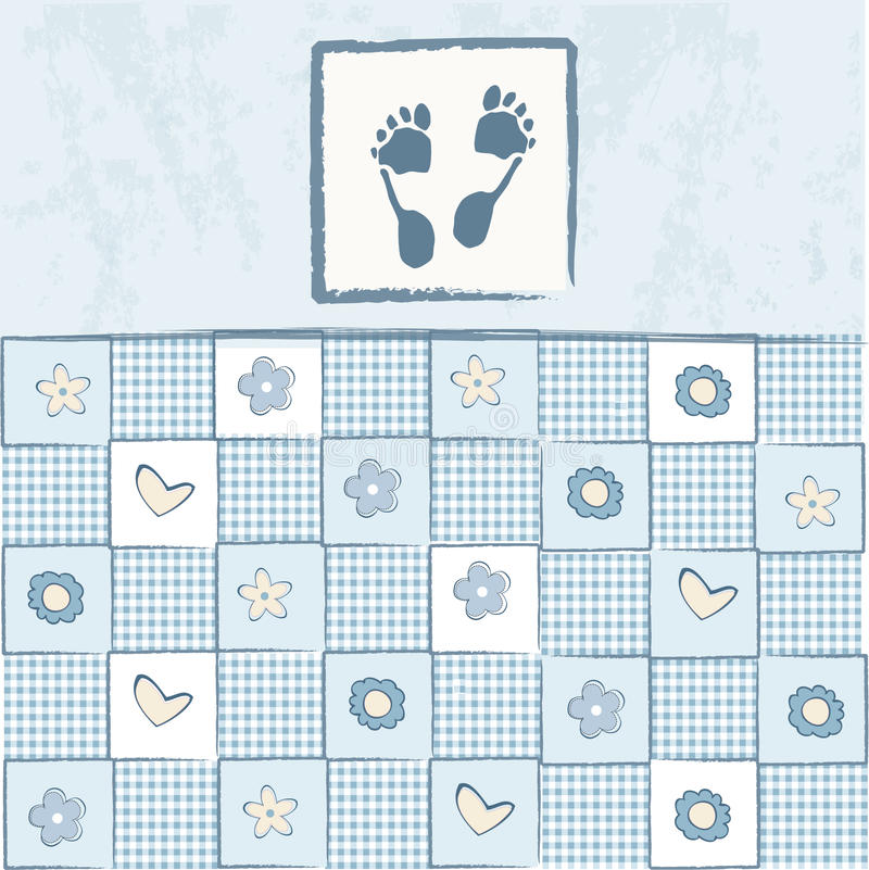 Carte d'annonce d'arrivée de bébé illustration de vecteur
