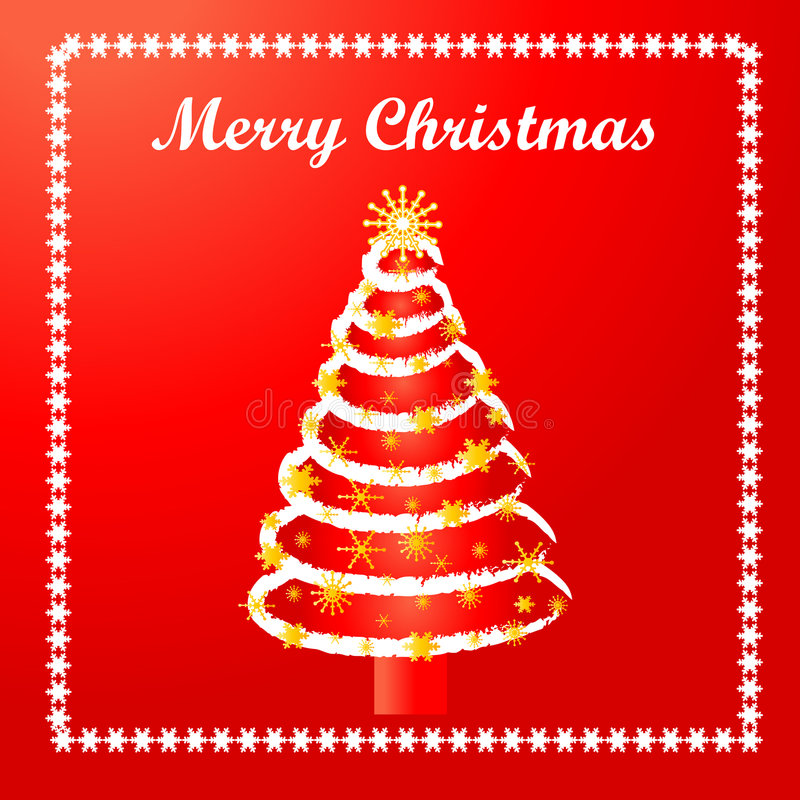 Carte d'arbre de Noël illustration stock