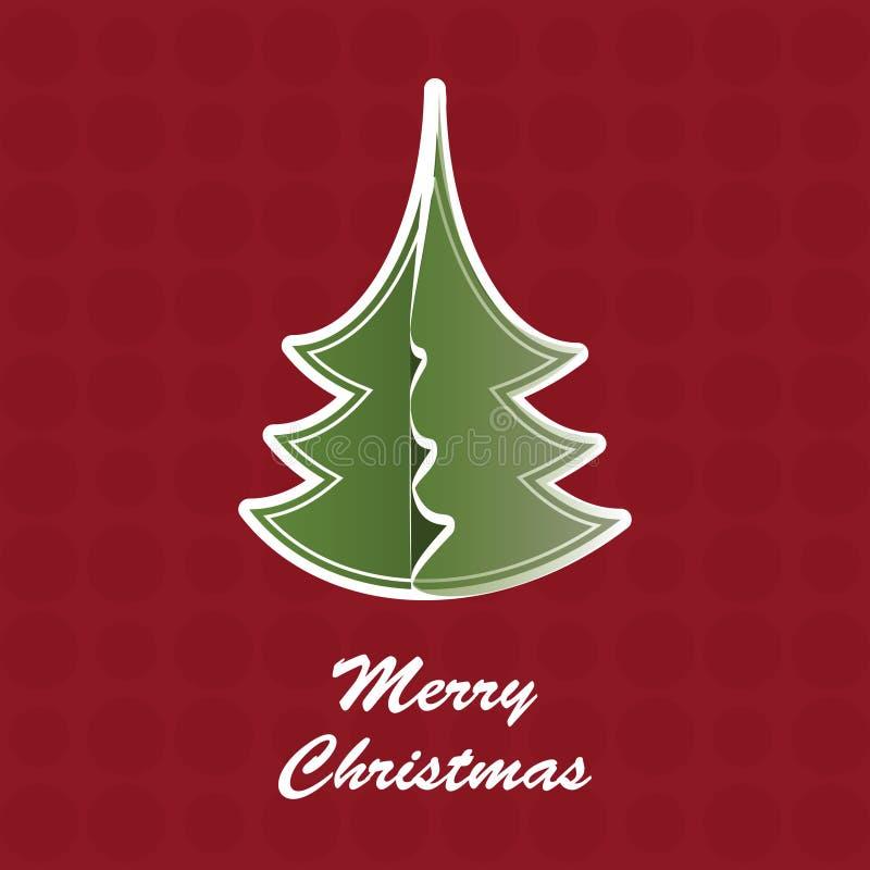 Carte d'arbre de Noël illustration libre de droits