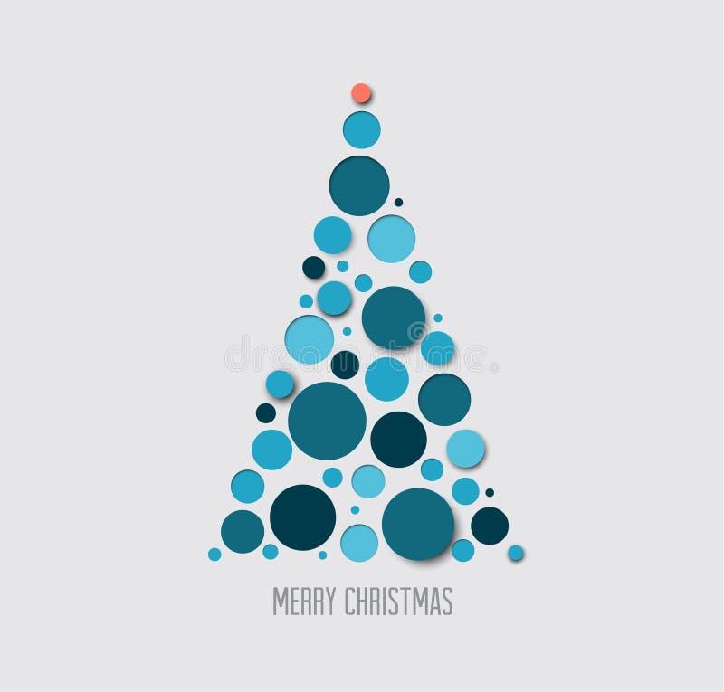 Carte d'arbre de Noël d'absract de vecteur illustration libre de droits