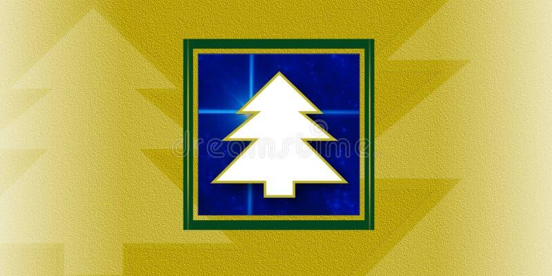 Carte d'arbres de Noël illustration stock