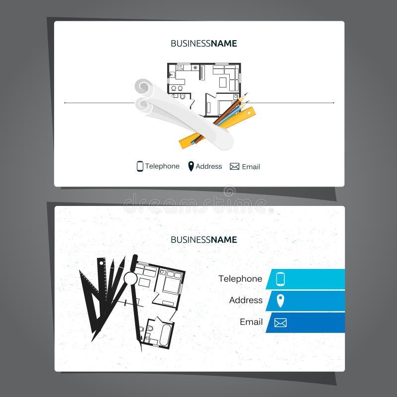 Carte d'architecture et d'entreprise de construction illustration libre de droits