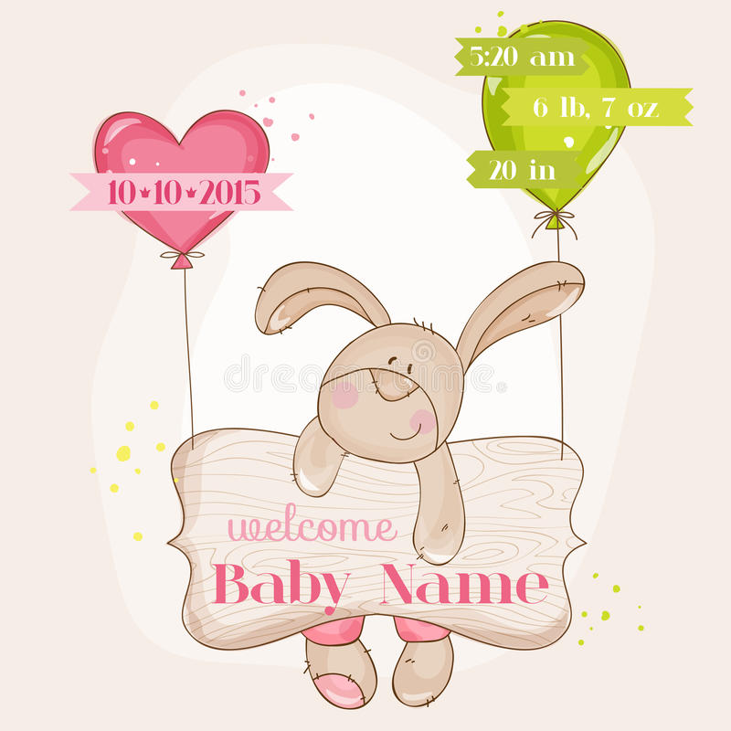 Carte d'arrivée de bébé illustration libre de droits