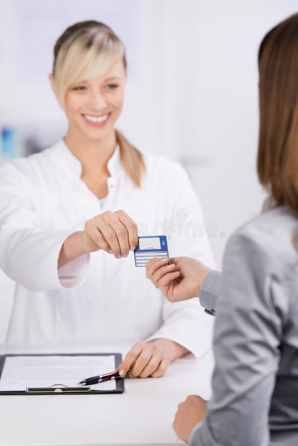 Carte d'assurance photos stock