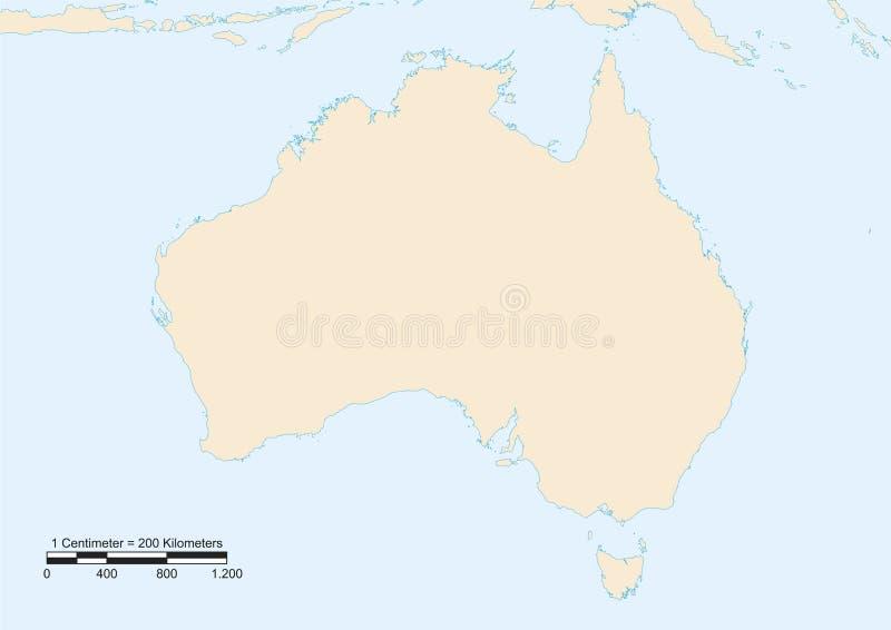 Carte d'Australie illustration de vecteur