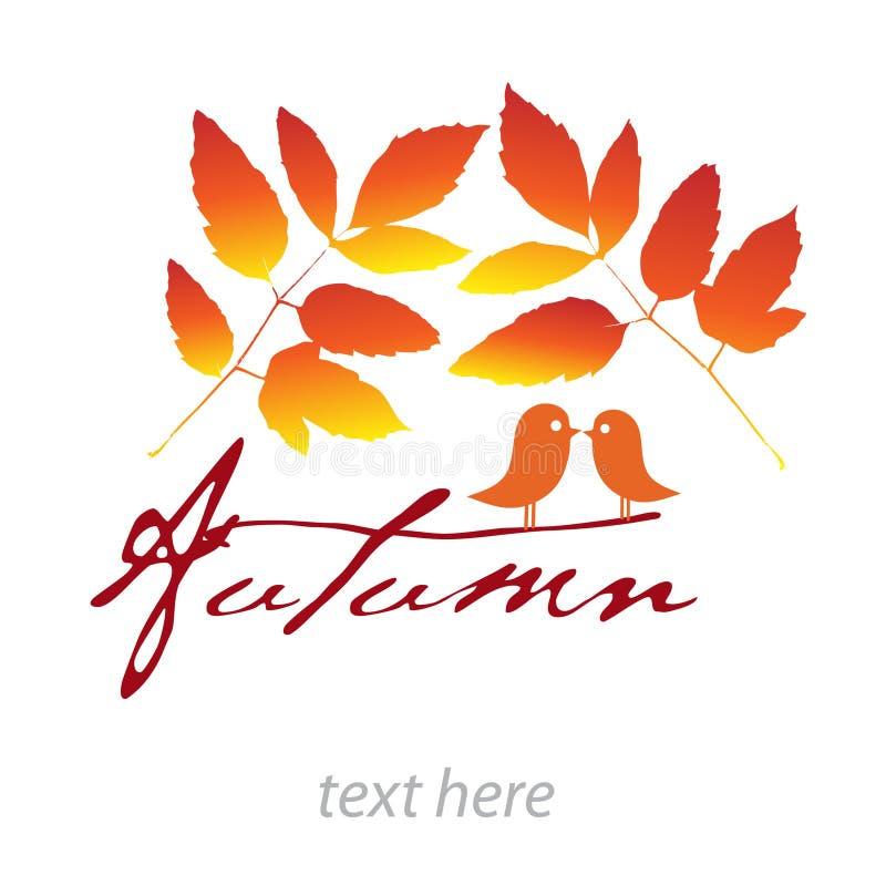 Carte d'automne photo stock