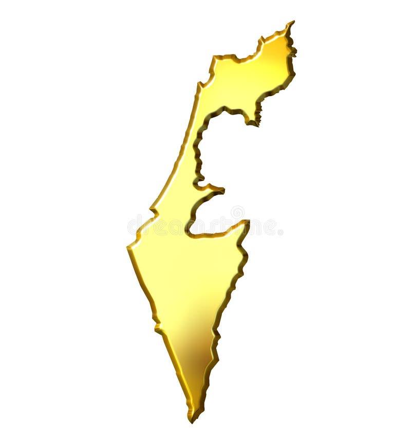 carte d'or de 3d Israël illustration libre de droits