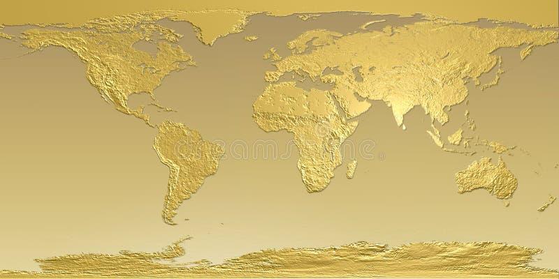 Carte d'or de la terre illustration de vecteur