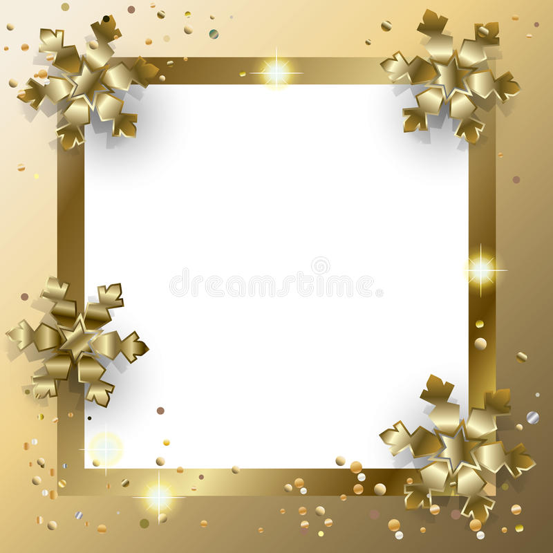Carte d'or de Noël illustration libre de droits