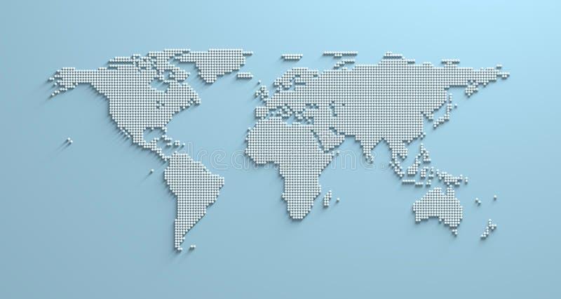 Carte 3d du monde illustration de vecteur