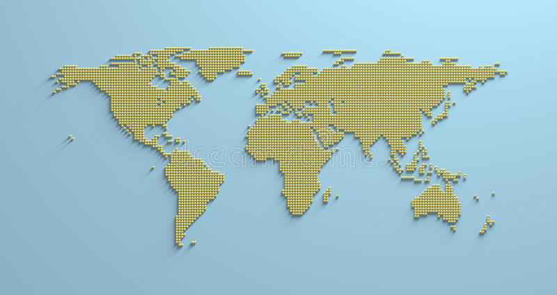 Carte 3d du monde illustration libre de droits