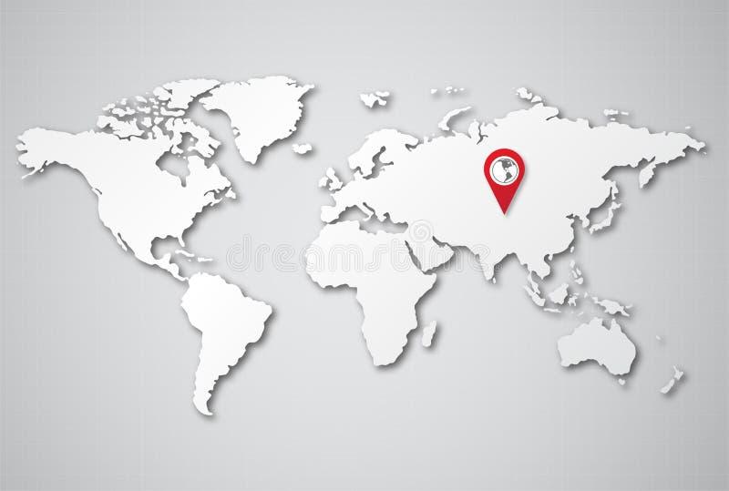 Carte 3D du monde de fond illustration libre de droits