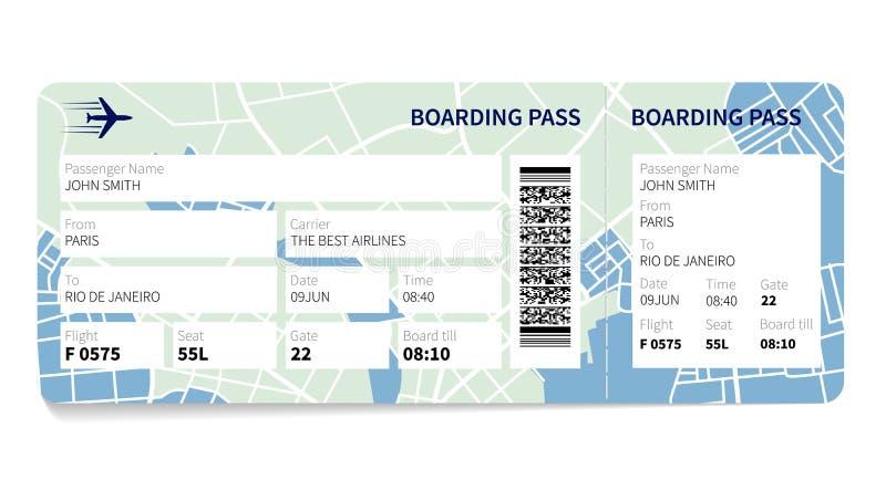 Carte d'embarquement illustration libre de droits