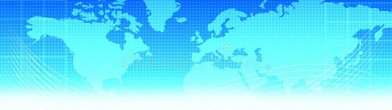 Carte d'en-tête/monde de Web de course illustration de vecteur