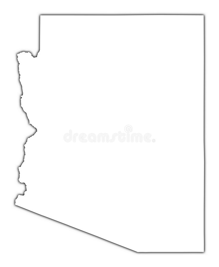Carte d'ensemble de l'Arizona (Etats-Unis) illustration de vecteur