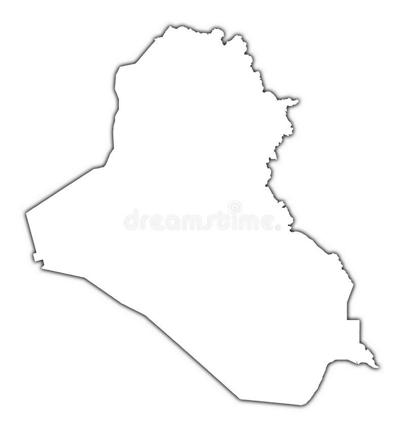 Carte d'ensemble de l'Irak illustration libre de droits