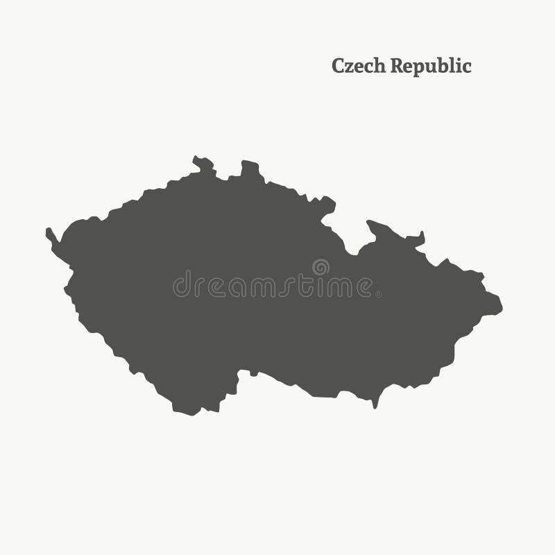 Carte d'ensemble de République Tchèque Illustration d'isolement illustration de vecteur