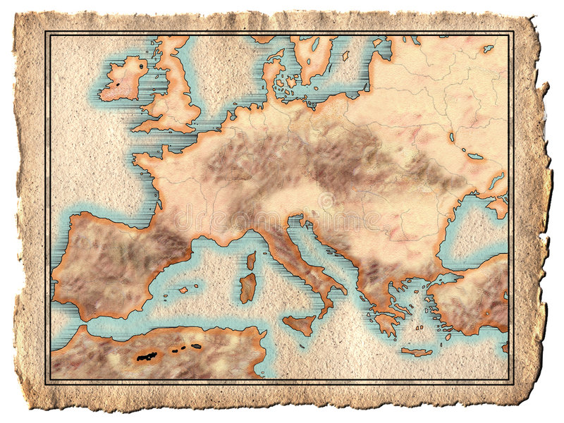 Carte d'Europa illustration libre de droits