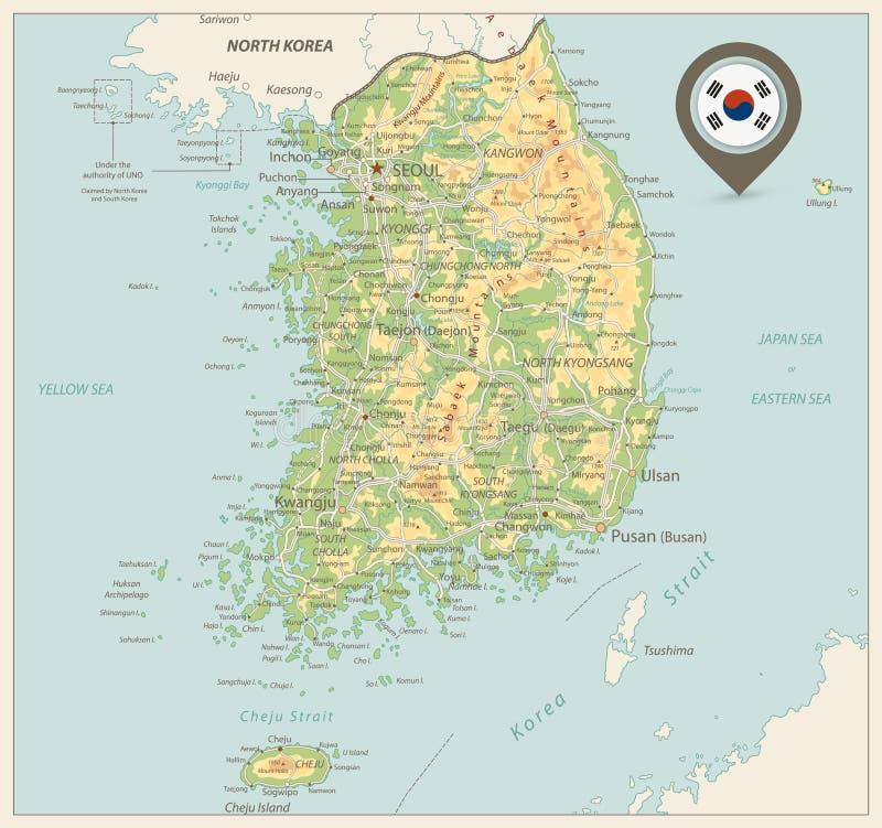 Carte d'examen médical de la Corée du Sud Rétros couleurs illustration libre de droits