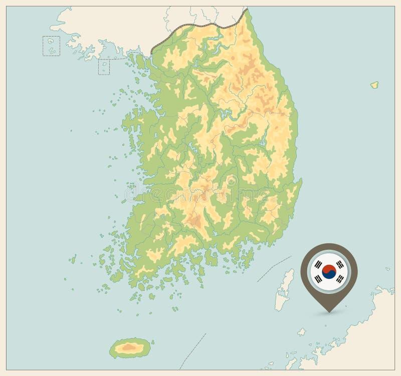 Carte d'examen médical de la Corée du Sud Rétros couleurs AUCUN texte illustration stock