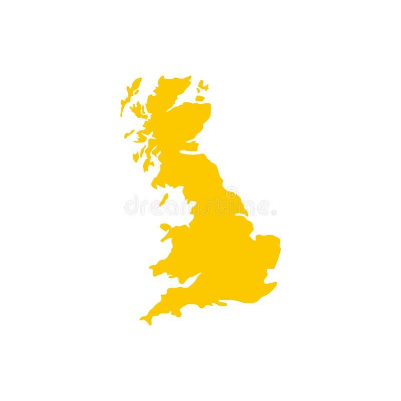 Carte d'icône de la Grande-Bretagne, style plat illustration stock