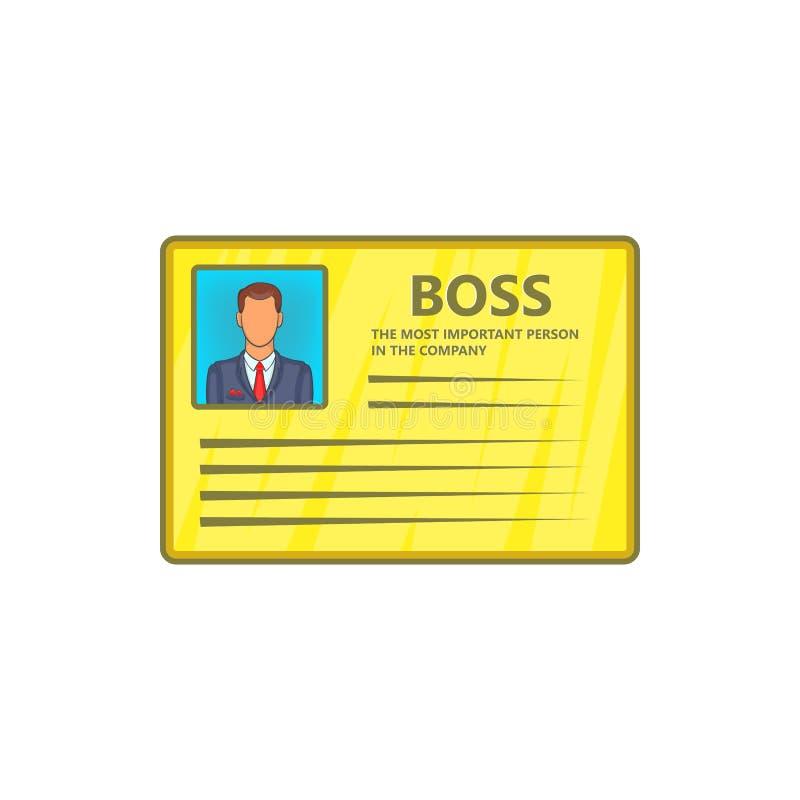Carte d'icône de patron, style de bande dessinée illustration de vecteur