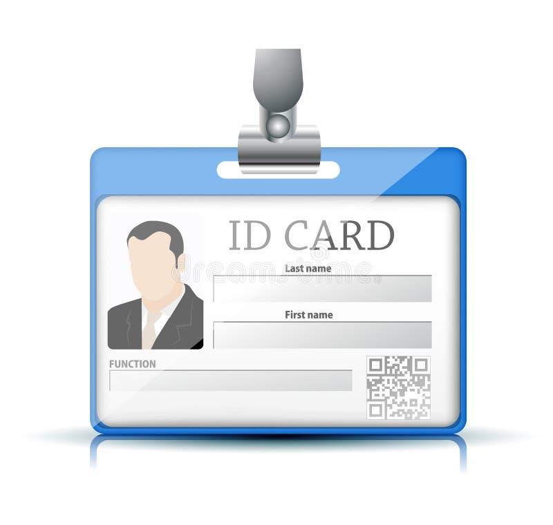 Carte d'identification illustration stock