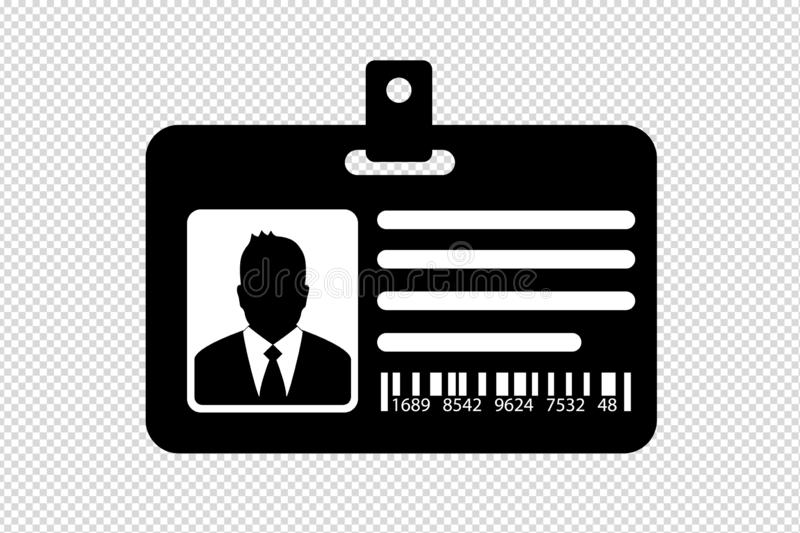 Carte d'identification avec l'homme d'affaires - illustration de vecteur - d'isolement sur le fond transparent illustration de vecteur