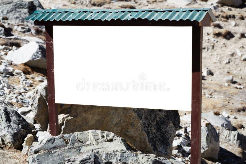 Carte d'information en bois photos stock