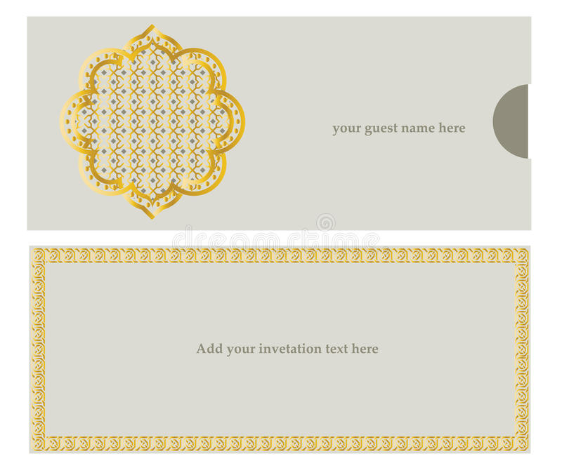 Carte d'invitation illustration stock
