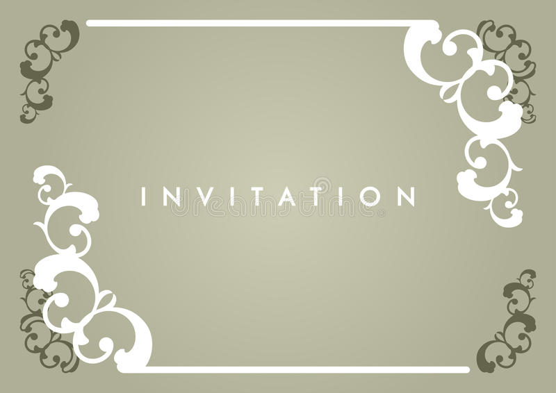 Carte d'invitation illustration libre de droits