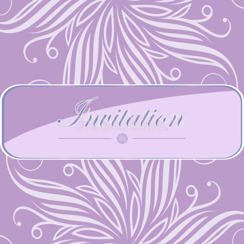 Carte d'invitation avec le lettrage Conception florale légère Bonne idée pour le calibre, carte de mariage, rétro style Illustrat illustration libre de droits