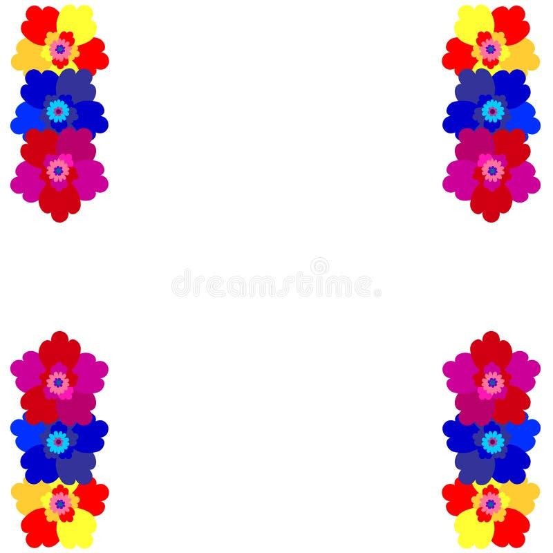 Carte d'invitation avec les fleurs mignonnes pour votre conception 2 illustration stock