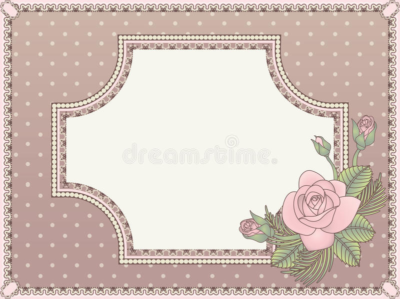 Carte d'invitation d'amour de vintage illustration stock