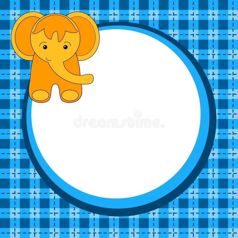 Carte d'invitation d'anniversaire d'éléphant illustration libre de droits