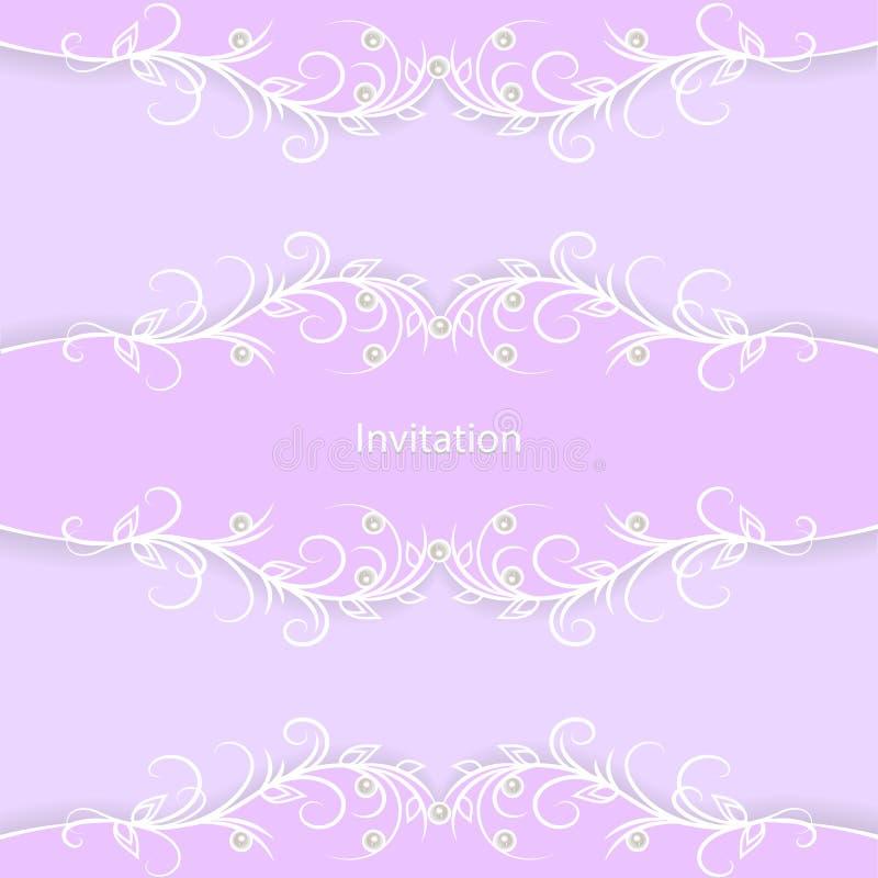 Carte d'invitation de cru illustration de vecteur