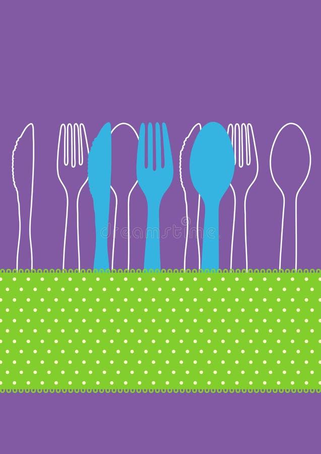 Carte d'invitation de dîner illustration libre de droits