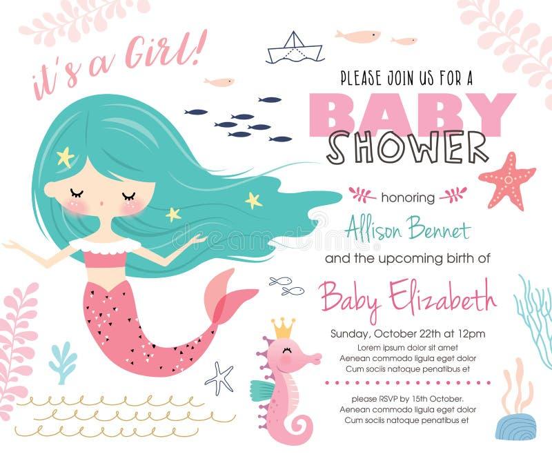 Carte d'invitation de fête de naissance illustration stock