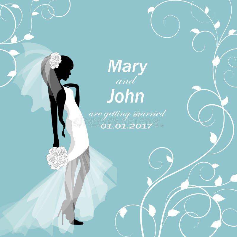 Carte d'invitation de mariage illustration stock
