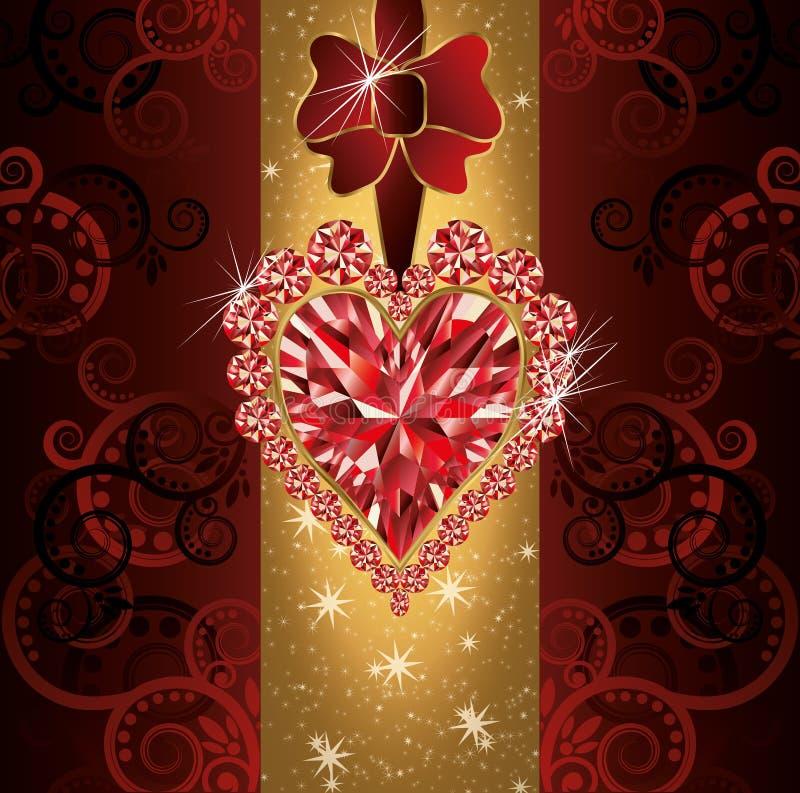 Carte d'invitation de mariage d'amour illustration stock