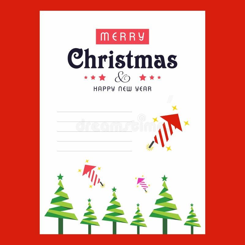 Carte D'invitation De Noël Avec Le Fond De Rouge D'abd D'arbre