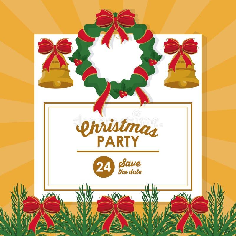 Carte d'invitation de pièce de Noël illustration libre de droits