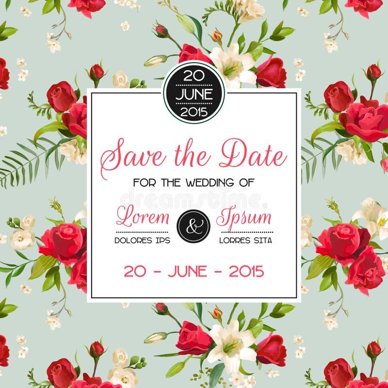 Carte d'invitation ou de félicitation pour épouser, fête de naissance illustration de vecteur