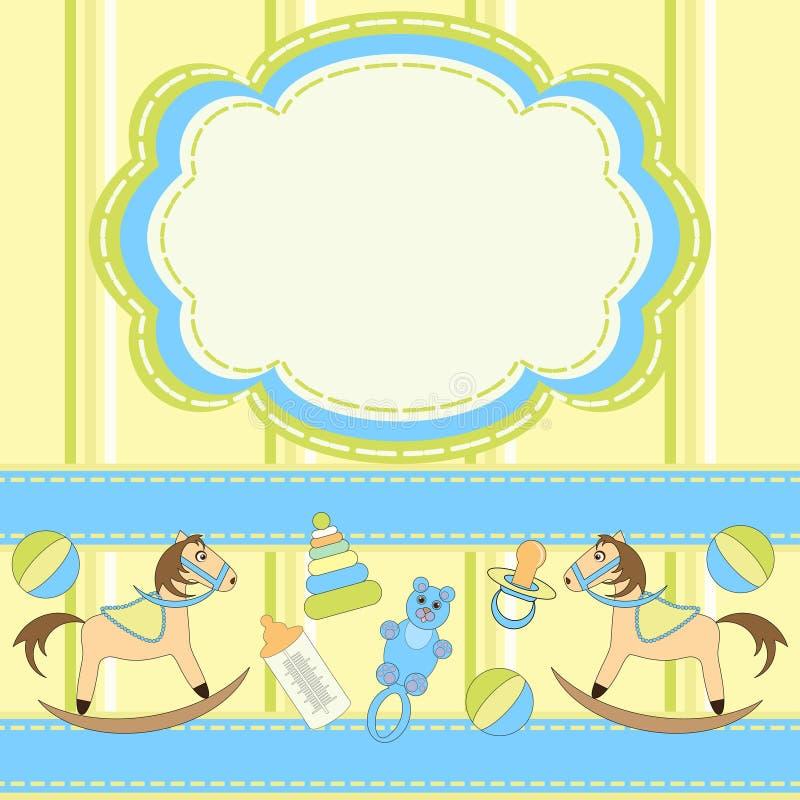 Carte d'invitation pour des chéris avec des jouets illustration libre de droits
