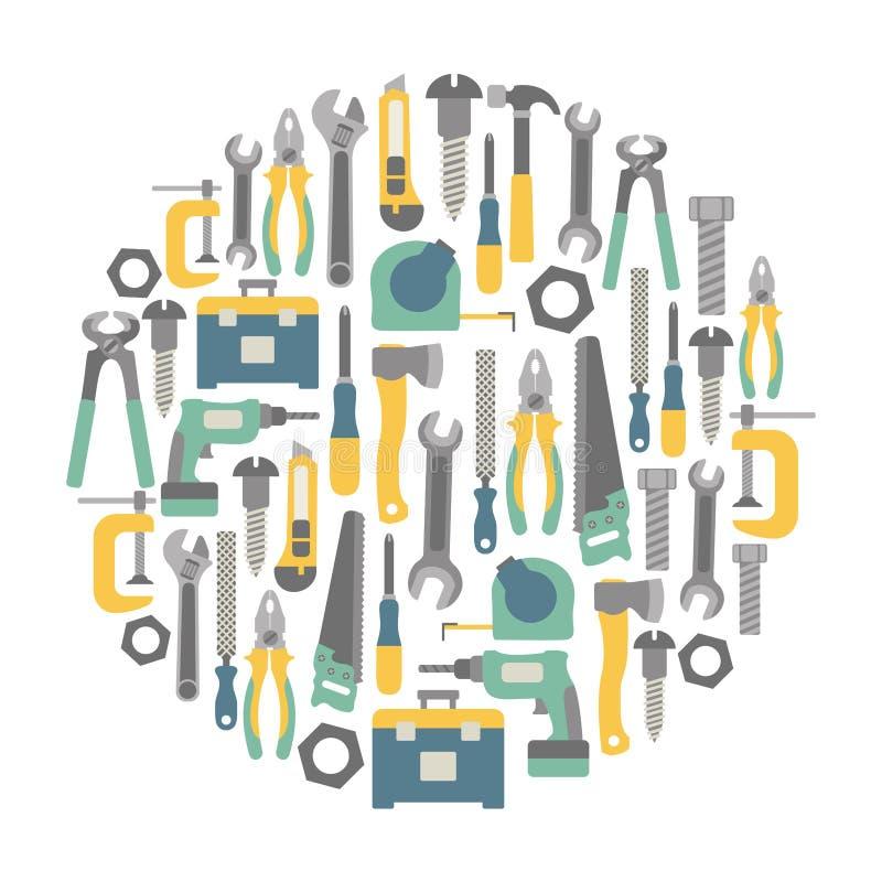 Carte d'outils illustration libre de droits