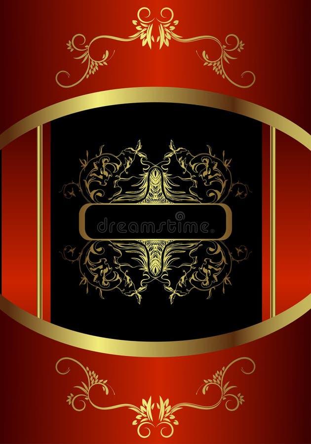 Carte d'or royale illustration stock