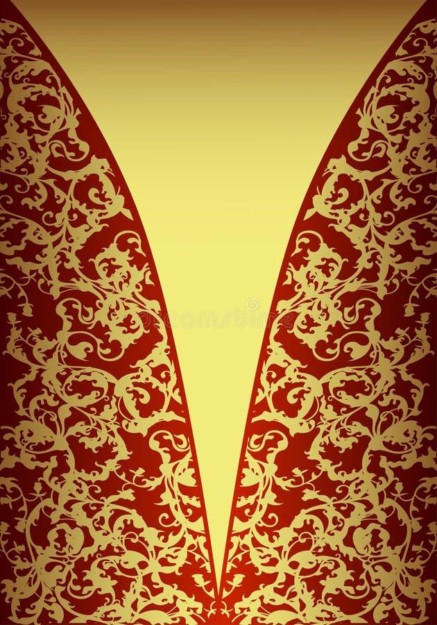 Carte d'or royale illustration libre de droits