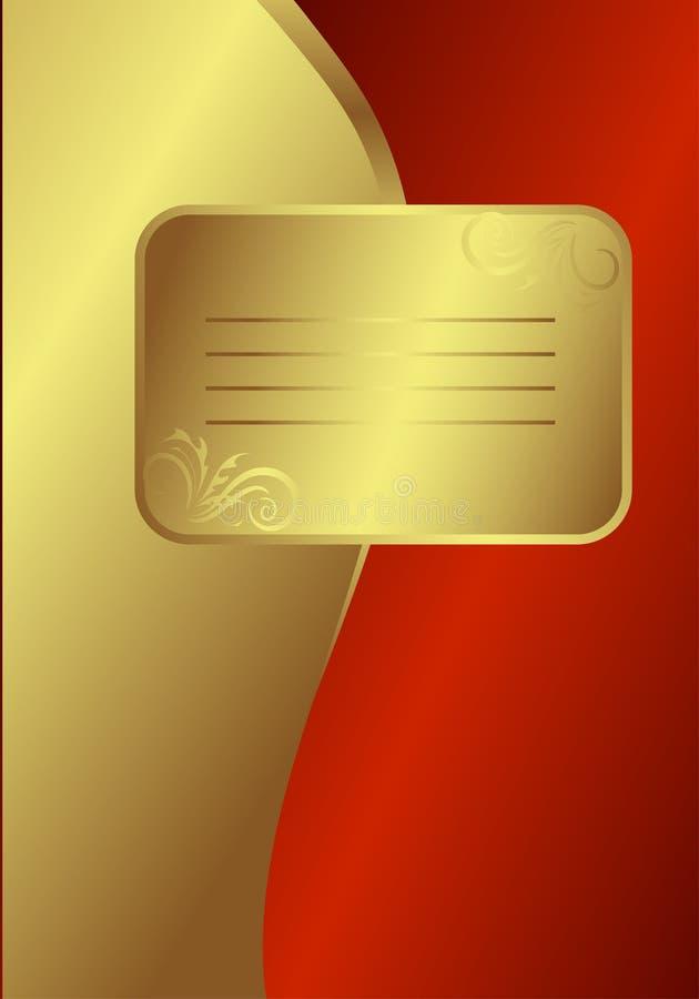Carte d'or royale illustration de vecteur