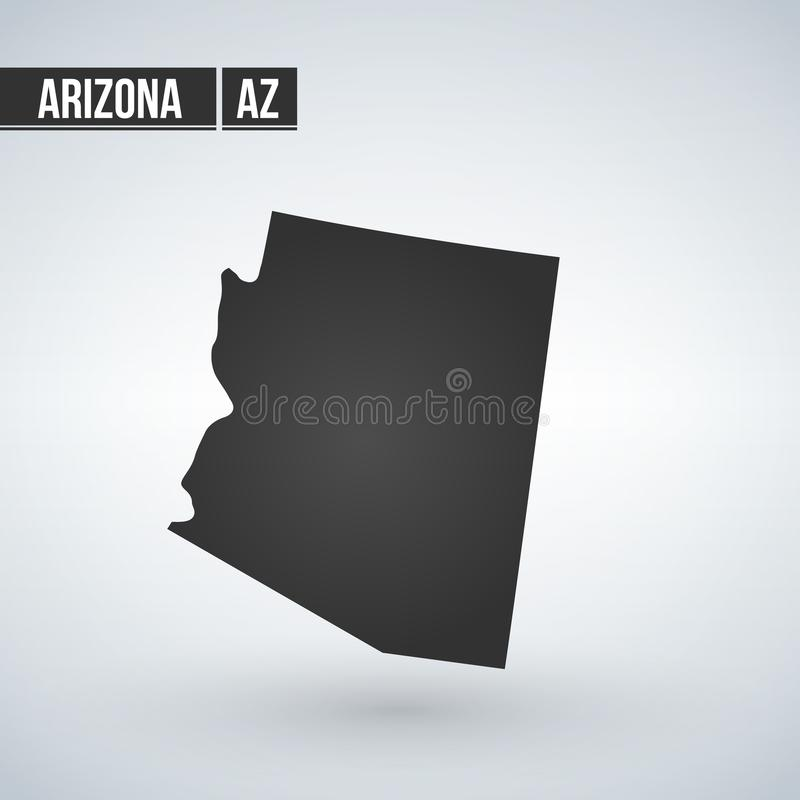 Carte d'U S état de l'Arizona sur un fond blanc illustration libre de droits